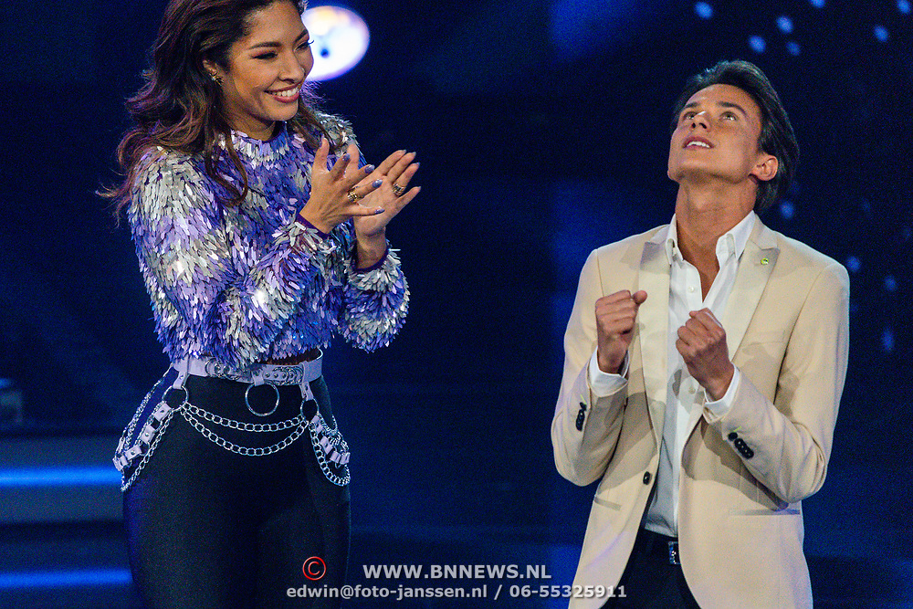 NLD/Hilversum/20200207 - Eerste lifeshow The Voice 2020, April D'Arby,,Sanillo Kuiters