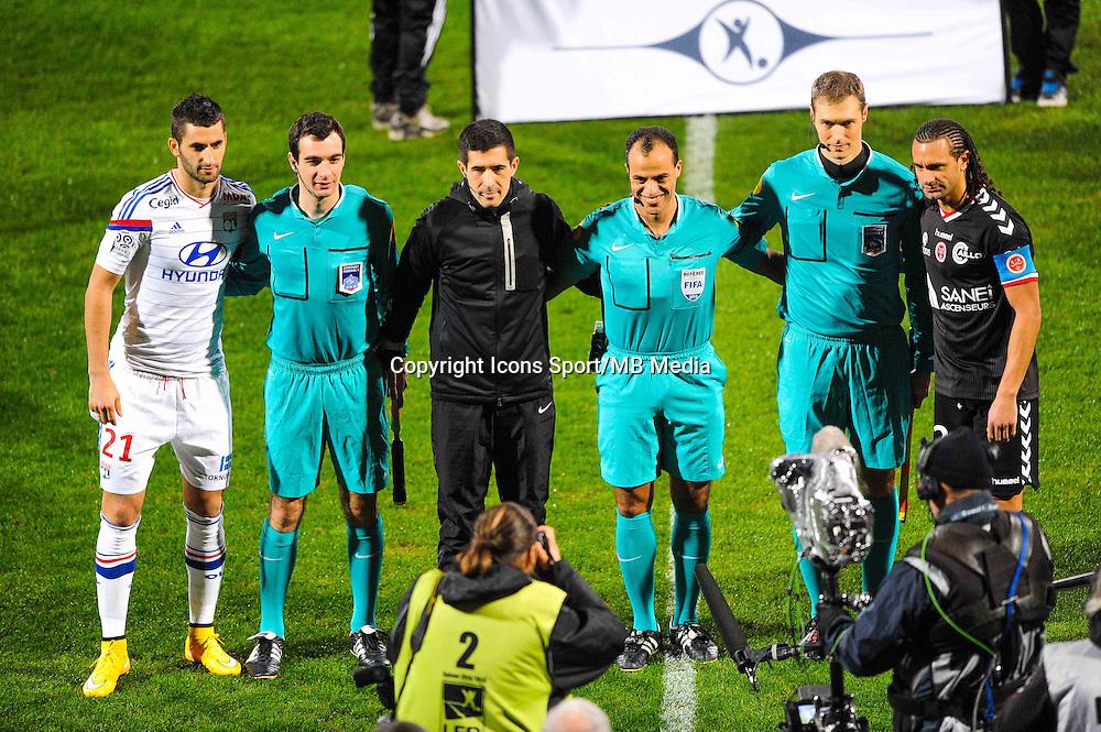 ARBITRES / Maxime GONALONS / Said ENNJIMI / Mickael TACALFRED  - 04.12.2014 - Lyon / Reims - 16eme journee de Ligue 1  <br /> Photo : Jean Paul Thomas / Icon Sport
