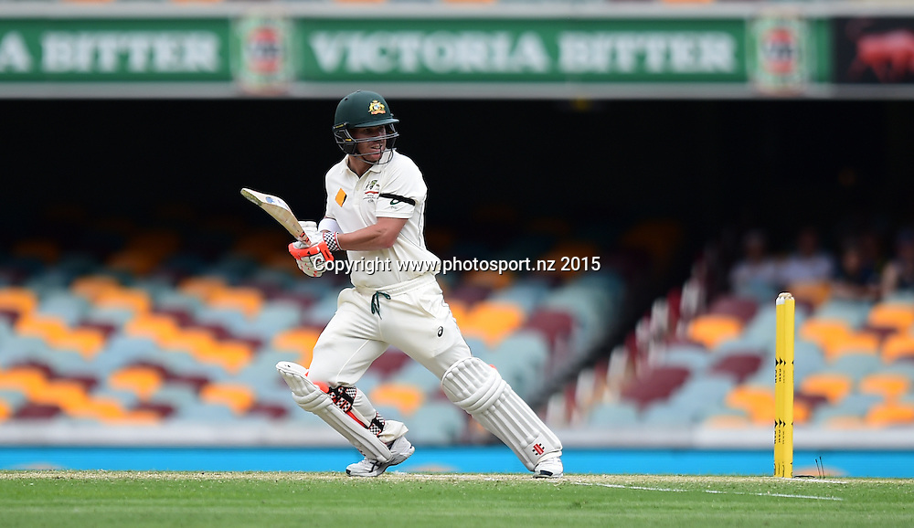 David Warner of Australia batting on Day Three, 7 November 2015. New Zealand Black Caps tour of Australia, 1st test at Brisbane 5-9 November 2015. Copyright photo: www.photosport.nz