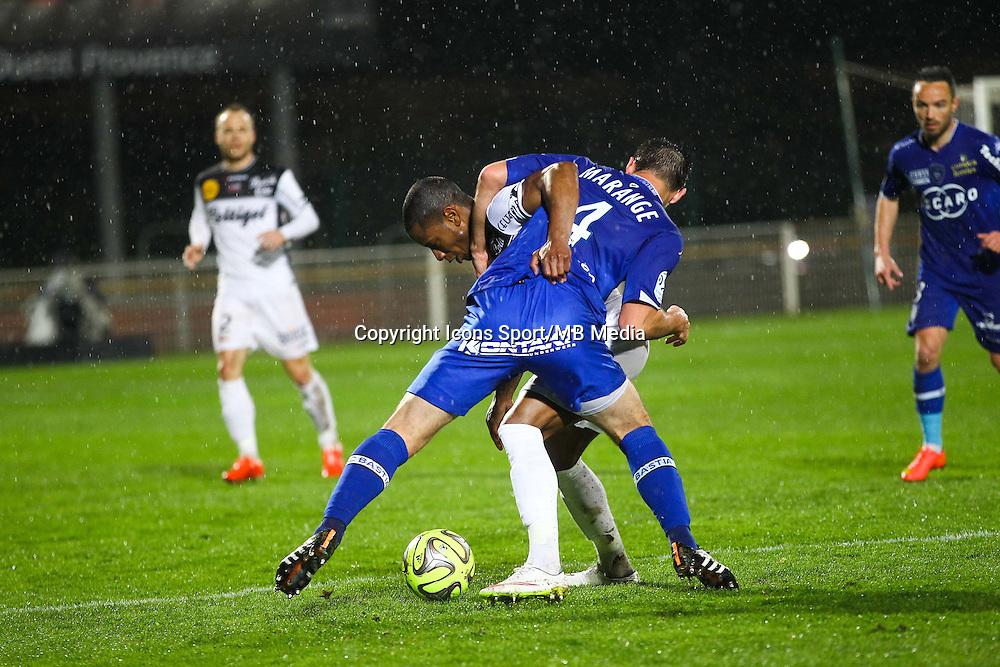 Claudio Beauvue / Florian Marange - 21.03.2015 - Bastia / Guingamp - 30eme journee de Ligue 1 <br />Photo : Andre Delon / Icon Sport
