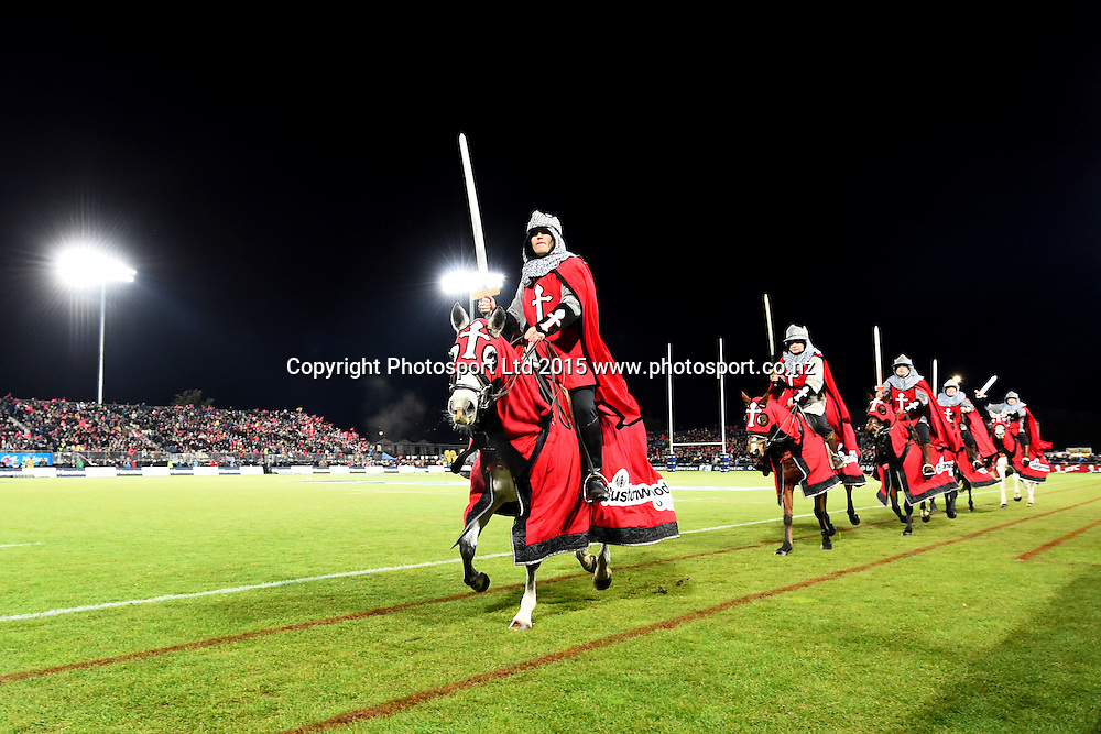 Crusaders Horseman during their Investec Super Rugby game Crusaders v Hurricanes. Trafalgar Park, Nelson, New Zealand. Friday 29 May 2015. Copyright Photo: Chris Symes / www.photosport.co.nz