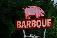 BARBQUE neon sign Bryson City, North Carolina