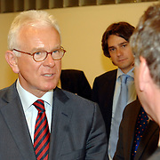 NLD/Den Haag/20070412 - Visit of Mr. Hans-Gert Pöttering, president of the European parliament to The Hague, meeting with the Presidents of the 4 leading political groups, Mr. van Geel..NLD/Den Haag/20070412 - President Europees Parlement Hans-Gert Pöttering bezoekt Den Haag, ontmoeting met de 4 politiieke leiders van de grootste partijen.  ** foto + verplichte naamsvermelding Brunopress/Edwin Janssen  **