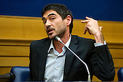 Rome jan 19th 2016, press conference to present the proposal to set up a commission of inquiry on the subject of ill-treatment and abuse of persons in conditions of deprivation or limitation of personal freedom. In the picture Nicola Fratoianni, politician