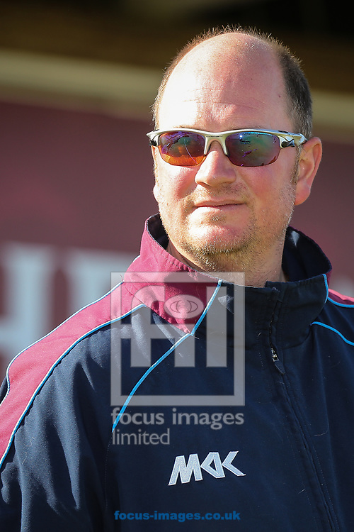 David Sales, Northamptonshire CCC batting coach, during day two of the Friendly match at the County Ground, Northampton<br /> Picture by Andy Kearns/Focus Images Ltd 0781 864 4264<br /> 03/04/2017
