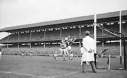 J.J. Barrett in possession of the ball during the All Ireland Senior Gaelic Football Final Kerry v. Galway in Croke Park on the 26th September 1965. Galway 0-12 Kerry 0-09.