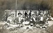 picnic on the beach England 1900s