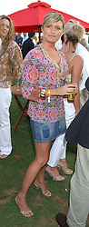 Actress TINA HOBLEY at the 2005 Cartier International Polo between England & Australia held at Guards Polo Club, Smith's Lawn, Windsor Great Park, Berkshire on 24th July 2005.<br />