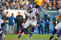 25 November 2012: Linebacker (54) Jasper Brinkley of the Minnesota Vikings in game action against the Chicago Bears during the second half of the Bears 28-10 victory over the Vikings in an NFL football game at Soldier Field in Chicago, IL.