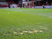 Griffin Park is not in good condition during the Sky Bet Championship match between Brentford and Ipswich Town at Griffin Park, London, England on 8 August 2015. Photo by Matthew Redman.