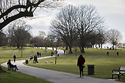 As the second week of the Coronavirus lockdown continues and a week before Easter when Prime Minister Boris Johnson reminds Britons to stay locally and not to travel to beauty spots, the UK death toll rises to 2,921, with 1m cases of Covid-19 worldwide in 181 countries. Londoners enjoy sunshine and spring temperatures in Brockwell Park in Herne Hill, 3rd April 2020, in south London, England.