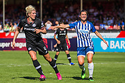 Millie Bright (Chelsea) & Lea Le Garrec (Brighton) during the FA Women's Super League match between Brighton and Hove Albion Women and Chelsea at The People's Pension Stadium, Crawley, England on 15 September 2019.