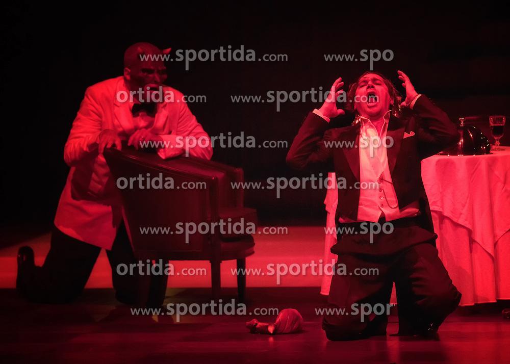 29.07.2016, Haus für Mozart, Salzburg, AUT, Salzburger Festspiele, Don Giovanni, im Bild Luca Pisaroni als Leporello und Ildebrando D`Arcangelo als Don Giovanni während der Fotoprobe zu Wolfgang Amadeus Mozarts Oper - Don Giovanni // Luca Pisaroni als Leporello und Ildebrando D`Arcangelo als Don Giovanni perform during the rehearsal of Wolfgang Amadeus Mozarts Don Giovanni'. The Salzburg festival takes place from 22 July to 31 August 2016, at the Haus für Mozart in Salzburg, Austria on 2016/07/29. EXPA Pictures © 2016, PhotoCredit: EXPA/ Ernst Wukits