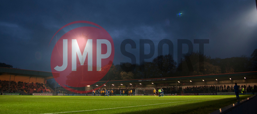 General view during the match - Mandatory by-line: Jack Phillips/JMP - 02/11/2019 - FOOTBALL - Crown Oil Arena - Rochdale, England - Rochdale v Bristol Rovers - English Football League One
