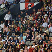 NLD/Amsterdam/20060928 - Voetbal, Uefa Cup voorronde 2006, Ajax - IK Start, Jacques Walch en partner op de tribune