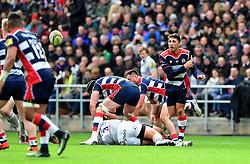 Gavin Henson of Bristol Rugby  spreads play  - Mandatory by-line: Joe Meredith/JMP - 26/02/2017 - RUGBY - Ashton Gate - Bristol, England - Bristol Rugby v Bath Rugby - Aviva Premiership