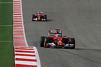 ALONSO Fernando (Spa) Ferrari F14T action RAIKKONEN Kimi (Fin) Ferrari F14T action   during the 2014 Formula One World Championship, United States of America Grand Prix from November 1st to 2nd 2014 in Austin, Texas, USA. Photo Frederic Le Floch / DPPI.