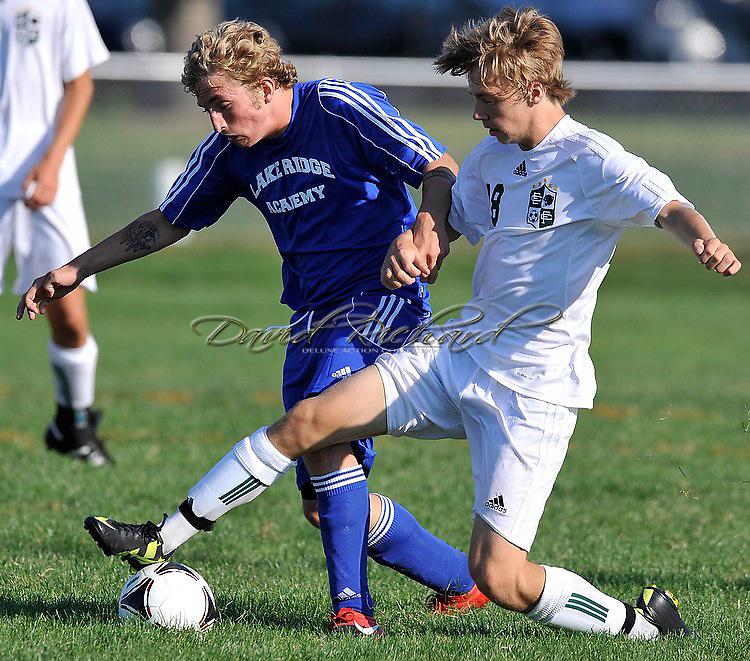 Lake Ridge at Elyria Catholic in a boys high school varsity soccer match on August 22, 2012.