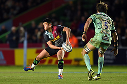 Marcus Smith of Harlequins looks to pass the ball - Mandatory byline: Patrick Khachfe/JMP - 07966 386802 - 01/12/2019 - RUGBY UNION - The Twickenham Stoop - London, England - Harlequins v Gloucester Rugby - Gallagher Premiership