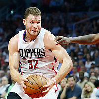 09 November 2016: Los Angeles Clippers forward Blake Griffin (32) drives during the LA Clippers 111-80 victory over the Portland Trail Blazers, at the Staples Center, Los Angeles, California, USA.