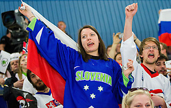 Fans of Slovenia during Ice Hockey match between Slovenia and Norway at Day 8 in Group B of 2015 IIHF World Championship, on May 8, 2015 in CEZ Arena, Ostrava, Czech Republic. Photo by Vid Ponikvar / Sportida
