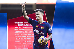 January 8, 2018 - Barcelona, Catalonia, Spain - Philippe Coutinho during his official presentation after signing his new contract for 160 million euros till 2022 at Camp Nou Stadium in Barcelona on 08 of January, 2018. (Credit Image: © Xavier Bonilla/NurPhoto via ZUMA Press)