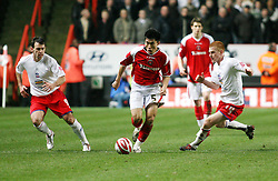 LONDON, ENGLAND - Friday, February 8, 2008: Charlton Athletic's Zheng Zhi in action against Crystal Palace during the League Championship match at the Valley. (Photo by Chris Ratcliffe/Propaganda)