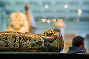 The British Museum reveals new findings relating to her cause of death of the Ancient Egyptian priestess 'Tamut' whose burial reveals the highest level of mummification at this time. Based on state-of-art scanning and visualisation technology of the mummy. The public will be able to see more mummies and new discoveries made about them at the forthcoming exhibition 'Ancient lives, new discoveries' (which opens May 22) at the British Museum. Sponsored by Julius Baer, Technology Partner: Samsung  Other objects relating to Ancient Egyptian burial will also be shown including a Roman-period wooden toy horse, a bronze razor from the 18th Dynasty, a musical instrument (an arched sistrum), an amulet from the 26th Dynasty, and a basketry dish of woven palm leaf with two loaves of unleavened bread. British Museum, Great Russell Street, London, UK.