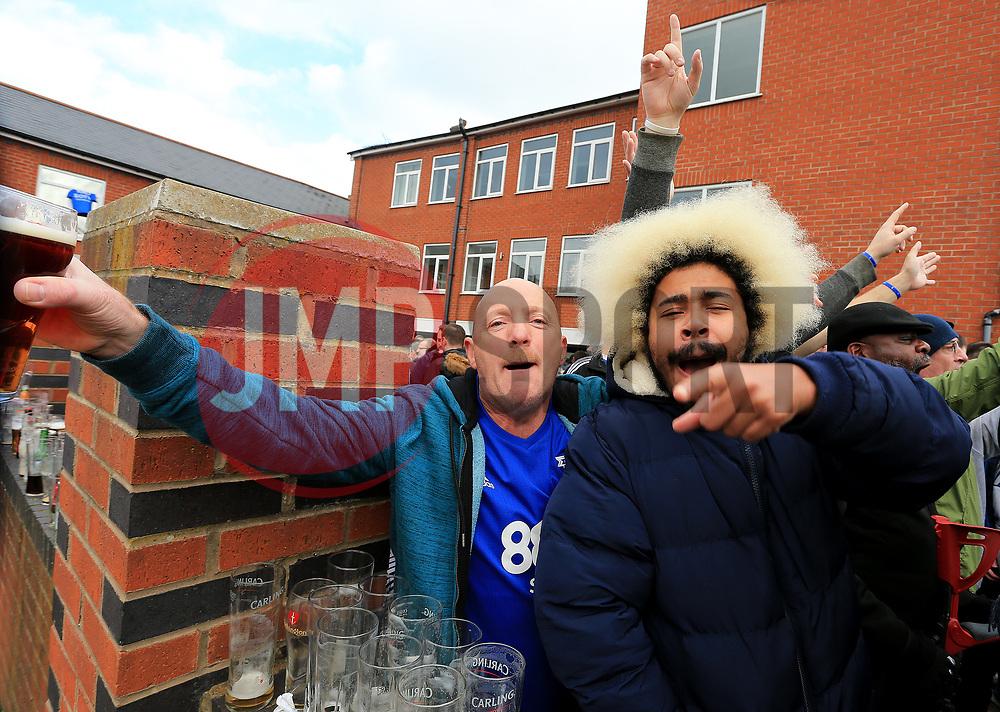 Birmingham fans chant anti Villa songs - Mandatory by-line: Paul Roberts/JMP - 29/10/2017 - FOOTBALL - St Andrew's Stadium - Birmingham, England - Birmingham City v Aston Villa - Skybet Championship