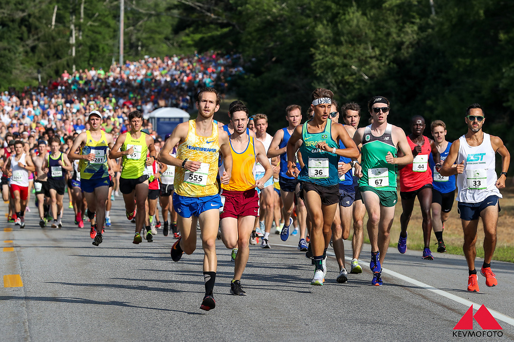 Beach to Beacon 10K road race, 22nd edition, held in Cape Elizabeth, Maine, USA, on August 3, 2019, finishing at the Portland Head Light in Fort Williams.