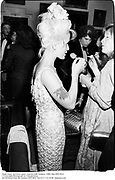 Paula Yates. Ed Victor party. Garrick club. London. 1989. film 89579f34<br />© Copyright Photograph by Dafydd Jones<br />66 Stockwell Park Rd. London SW9 0DA<br />Tel 0171 733 0108  dafjones.com