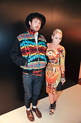 JAIME WINSTONE and   at a party to celebrate the launch of Bang a new male fragrance by Marc Jacobs held at the Fith Floor Restaurant, Harvey Nichols, Knightsbridge, London on 22nd July 2010.