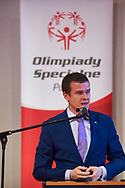 Warsaw, Poland - 2017 March 12: Witold Banka Minister of Sports Departament while Nomination Ceremony of Special Olympics Polish National Team before the Special Olympics World Winter Games Austria  2017 at Marriott Hotel on March 12, 2017 in Warsaw, Poland.<br /> <br /> Mandatory credit:<br /> Photo by © Adam Nurkiewicz / Mediasport<br /> <br /> Adam Nurkiewicz declares that he has no rights to the image of people at the photographs of his authorship.<br /> <br /> Picture also available in RAW (NEF) or TIFF format on special request.<br /> <br /> Any editorial, commercial or promotional use requires written permission from the author of image.<br /> <br /> Image can be used in the press when the method of use and the signature does not hurt people on the picture.