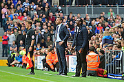 Queens Park Rangers manager Jimmy Floyd Hasselbaink shouts the orders during the EFL Sky Bet Championship match between Fulham and Queens Park Rangers at Craven Cottage, London, England on 1 October 2016. Photo by Jon Bromley.