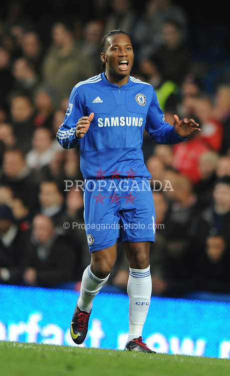 LONDON, ENGLAND - Sunday, February 7, 2010: Chelsea's Didier Drogba during the Premiership match at Stamford Bridge. (Photo by Chris Brunskill/Propaganda)