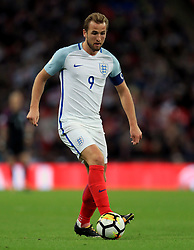 File photo dated 05-10-2017 of England's Harry Kane. PRESS ASSOCIATION Photo. Picture date: Thursday October 5, 2017. See PA story SOCCER England. Photo credit should read: Adam Davy/PA Wire. RESTRICTIONS: Use subject to FA restrictions. Editorial use only. Commercial use only with prior written consent of the FA. No editing except cropping. PRESS ASSOCIATION Photo. Issue date: Thursday December 14, 2017. There is a cautious optimism, even, about England under Gareth Southgate: an appointment met with bewilderment in some quarters has been given new life by Southgate's accent on youth and his hope that two Harrys of a rather different kind - namely Kane and Winks - can carry England to improbable World Cup success in Russia next summer. See PA story SPORT Christmas Overview. Photo credit should read Adam Davy/PA Wire.