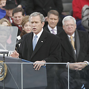 President Bush speaks during the Inauguration Jan. 20, 2005, at the US Capitol in Washington, DC.  ..Photo by Khue Bui..