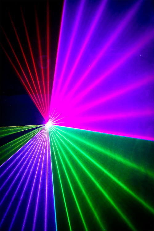 Laser effects at a club.