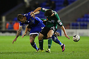 Lee Erwin of Oldham Athletic battles to win the ball during the EFL Sky Bet League 1 match between Oldham Athletic and Scunthorpe United at Boundary Park, Oldham, England on 18 October 2016. Photo by Simon Brady.