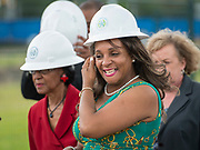 Houston ISD Trustee Rhonda Skillern Jones participates in a groundbreaking ceremony at Barbara Jordan Career Center, May 9, 2017.
