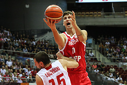 September 17, 2018 - Gdansk, Poland - Tomislav Zubcic (11) of Croatia in action against Kamil Laczynski (15) of Poland  is seen in Gdansk, Poland on 17 September 2018  Poland faces Croatia during the Basketball World Cup China 2019 Qualifiers game in the ERGO Arena sports hall in Gdansk  (Credit Image: © Michal Fludra/NurPhoto/ZUMA Press)