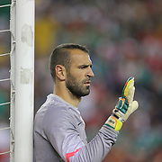 Goalkeeper Eduardo, Portugal, in action during the Portugal V Mexico International Friendly match in preparation for the 2014 FIFA World Cup in Brazil. Gillette Stadium, Boston (Foxborough), Massachusetts, USA. 6th June 2014. Photo Tim Clayton