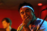 Roger Alexander Moreno, lead singer of Ship Captain Crew, performs at Fiesta in Tinley Park, IL.