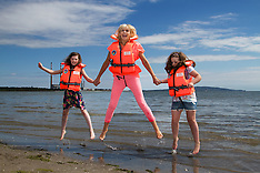 Miriam O'Callaghan in beach-break for Irish Water Safety, 27th May 2014.