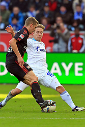 23.10.2011,  BayArena, Leverkusen, GER, 1.FBL, Bayer 04 Leverkusen vs Schalke 04, im Bild.Lars Bender (Leverkusen #8) gegen Lewis Holtby (Schalke #10)..// during the 1.FBL, Bayer Leverkusen vs Schalke 04 on 2011/10/23, BayArena, Leverkusen, Germany. EXPA Pictures © 2011, PhotoCredit: EXPA/ nph/  Mueller       ****** out of GER / CRO  / BEL ******