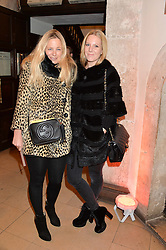 Left to right, ASTRID HARBORD and ALICE NAYLOR-LEYLAND at the Fortnum & Mason and Quintessentially Foundation Fayre of St.James's in association with The Crown Estate held at St.James's Church, Piccadilly followed but a reception at Fortnum & Mason, Piccadilly,London on 5th December 2013.