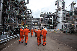 Outside the KG Cracker area.<br /> INEOS Grangemouth plant as part of an INEOS Media Trip.