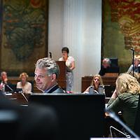 Nederland, Haarlem , 9 mei 2011..Provinciale staten vergaderen over de lezing van Von der Dunk..Op de foto Hero Brinkman van de PVV tijdens de vergadering..Foto:Jean-Pierre Jans