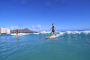 Surfing, Waikiki, Oahu, Hawaii<br />