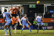 Mark Cullen of Luton Town scores his team's second goal against York City to make it 2-2 during the Sky Bet League 2 match at Kenilworth Road, Luton<br /> Picture by David Horn/Focus Images Ltd +44 7545 970036<br /> 10/02/2015